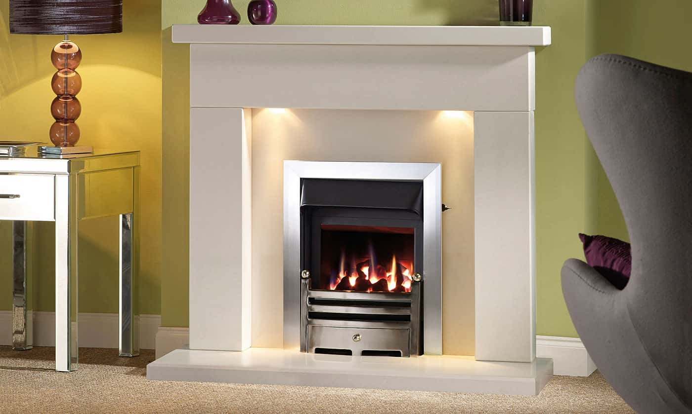 Belmonte suite with inset gas fire banner